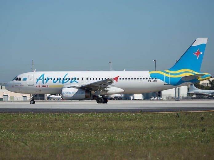 aruba airlines, curacao, antillen, aruba, vliegtuig, airbus a 320-200