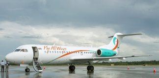fly all ways, suriname, paramaribo, fokker f70