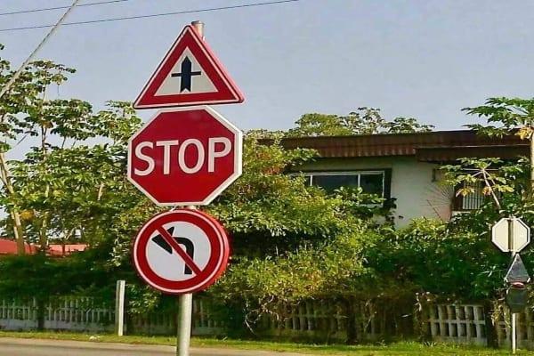suriname, paramaribo, verkeersborden, ringweg