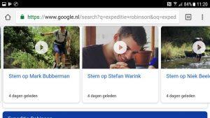 expeditie robinson, stemmen, google-