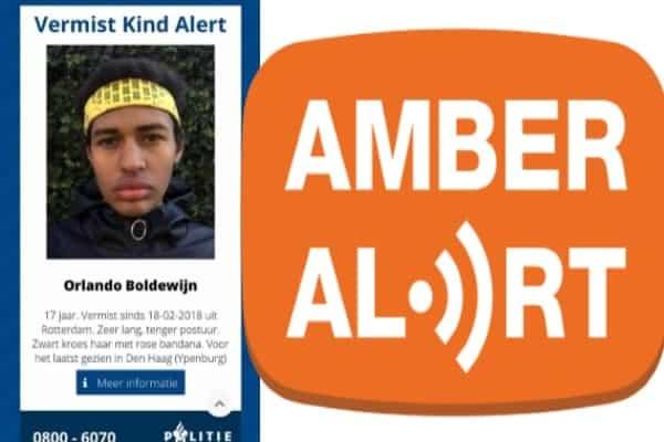 orlando boldewijn, vermist, Rotterdam, ypenburg, amber alert, vermist kind alert--