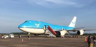 klm, boeing 747, suriname, zanderij, japi
