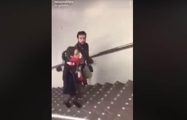 roltrapschopper, amsterdam, metrostation