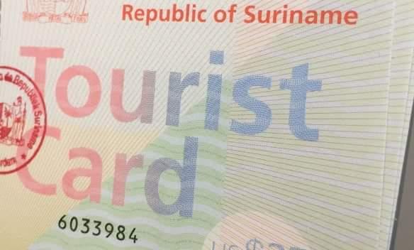 toeristenkaart, suriname