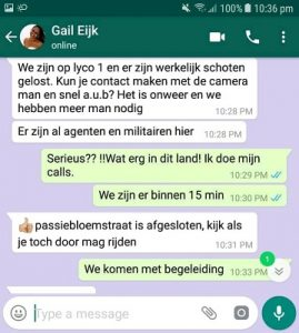 whatsapp bericht, gail eijk, suriname, is