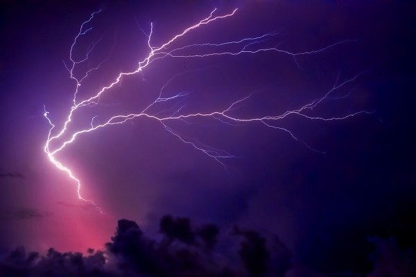 bliksem, slecht weer, onweer