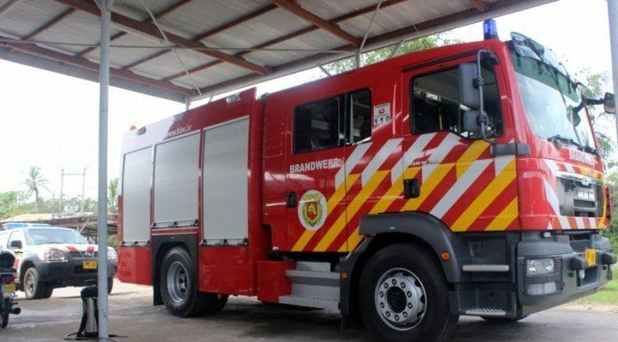 brandweerauto suriname, paramaribo